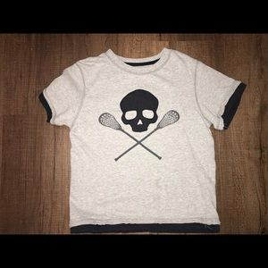 "osse"" Crossed Sticks and Skull Tee Shirt, Size 6"